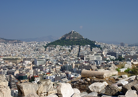 View of Athens from the Akropolis
