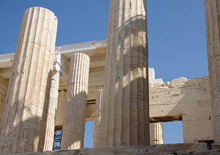 The Propylaia (gates) of the Athenian Acropolis