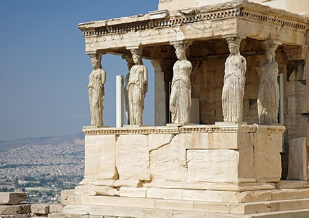 Part of the Erechtheion of the Akropolis