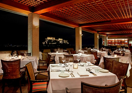 The Roof Garden Restaurant with Akropolis view