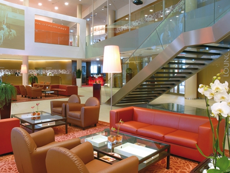 Stylish interior of the Hotel Austria Trend Savoyen