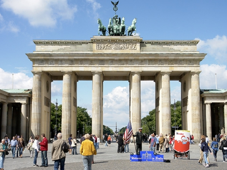 The Brandenburg Gate is Berlin's most important landmark
