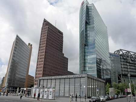 Part of the Potsdamer Platz, the result of a public competition for urban design ideas in 1991