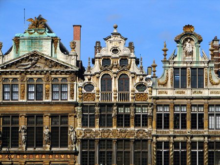 Facades at the Grand Place
