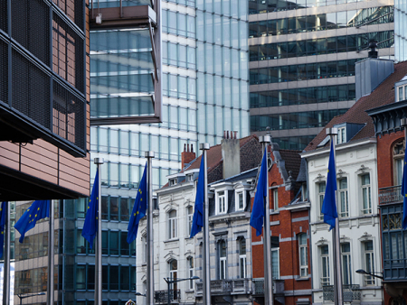 Old and modern buildings in the European quarters