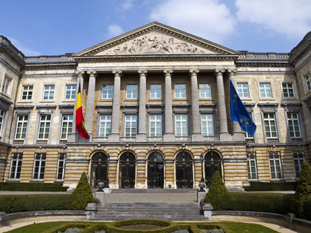 The Belgian Parliament Building in Brussels